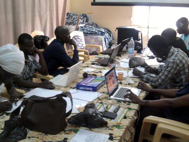 Les participants de l'atelier sur le film d'animation